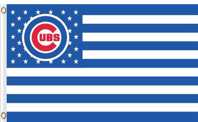 Chicago Cubs with Star and Stripe 3x5FT Flag