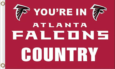Atlanta Falcons You Are in Country Flag 3ftx5ft