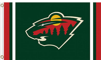 Minnesota Wild custom flag 3ftx5ft