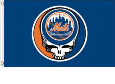 New York Mets Dead Skull Banner flag 3ftx5ft