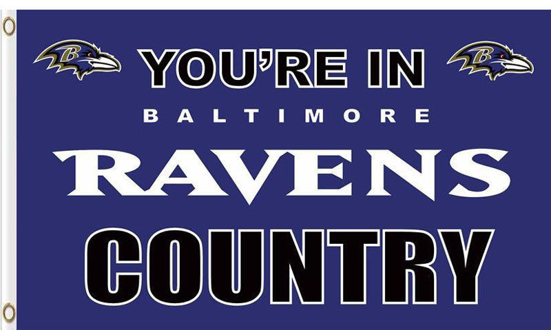 Baltimore Ravens In Country Flag 3x5ft