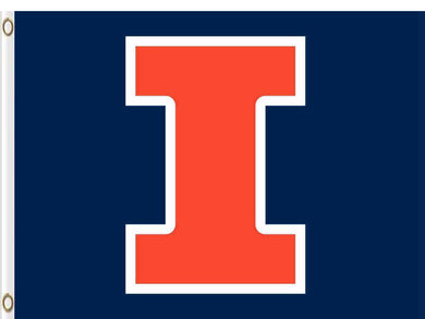 Illinois Fighting Illini Hand Flags Banners 3*5ft