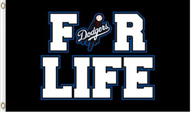 Los Angeles Dodgers For Life Banner flags 3ftx5ft