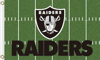 Oakland Raiders Green Flag 3ft x 5ft