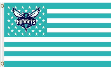 Charlotte Hornets flags with 2 Metal Grommets 3x5ft