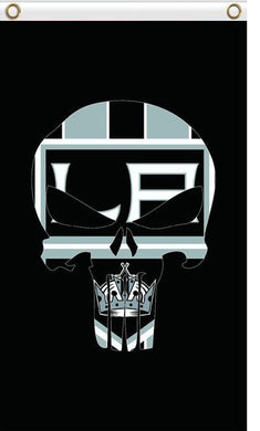 Los Angeles Kings Digital Printing skull flag 3x5 FT
