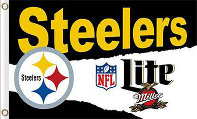 Pittsburgh Steelers Lite Flags 3ftx5ft