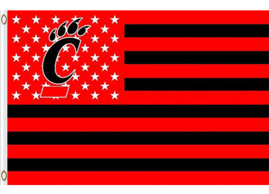 Cincinnati Bearcats Stars and Stripes Banner Flag 3*5ft