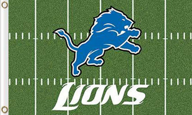 Detroit Lions Green flag 90x150cm