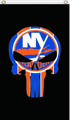 New York Islanders Digital Printing skull flag 3x5 FT
