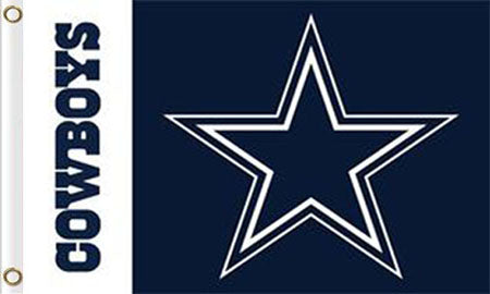 Dallas Cowboys Logo Flags 3ftx5ft