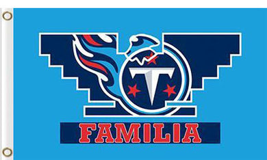 Tennessee Titans  Banners Familia Flags 3ftx5ft