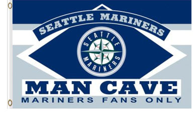 Seattle Mariners Man Cave flag 3ftx5ft