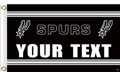 San Antonio Spurs your text flag 90x150cm