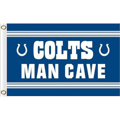 Indianapolis Colts MAN CAVE Outdoor flag 90x150cm