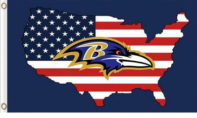 Baltimore Ravens US Flag 3x5ft