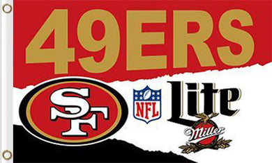 San Francisco 49ers Lite Flag 3ftx5ft