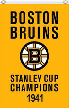 Load image into Gallery viewer, Boston Bruins stanley cup champions 1941 Flag 3x5 FT