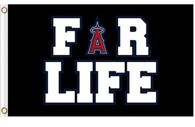 Los Angeles Angels For Life Banner Flag 3x5ft
