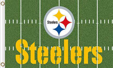 Pittsburgh Steelers Green Flags 3ftx5ft