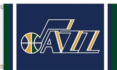 Utah Jazz logo and star-spangled flags 90x150cm