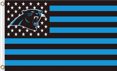 Carolina Panthers Sports Flag with Star and Stripes 3FTx5FT