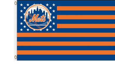 New York Mets Star And Stripes American Banner flag 3ftx5ft