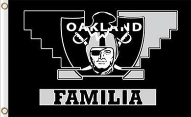 Oakland Raiders Familia Flag 3ft x 5ft