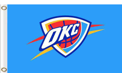 Oklahoma City Thunder logo and star-spangled flags 90x150cm