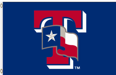 Texas Rangers Banner Flag 3x5ft