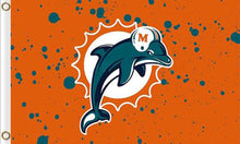 Load image into Gallery viewer, Miami Dolphins Flag 3FTx5FT