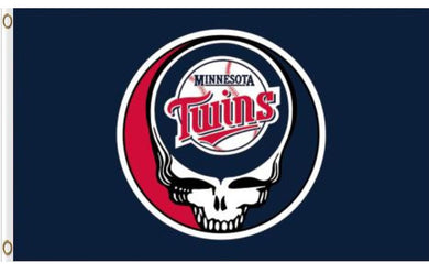 Minnesota Twins Dead Skull Banner flag 3ftx5ft