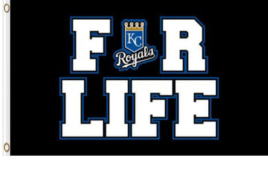 Kansas City Royals For Life Banner flags 3ftx5ft