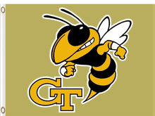 Load image into Gallery viewer, Georgia Tech Yellow Jackets Hand Flags 3*5ft