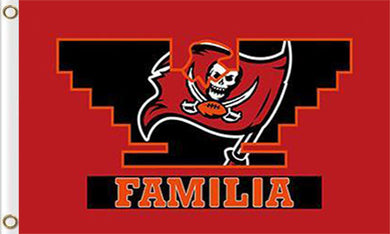 Tampa Bay Buccaneers Familia Flags 3ftx5ft
