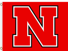 Load image into Gallery viewer, Nebraska Cornhuskers Logo Hand Flag 90*150 CM