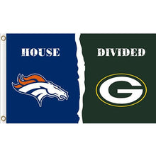 Load image into Gallery viewer, Denver Broncos vs Green Bay Packers House divided flag 3ftx5ft