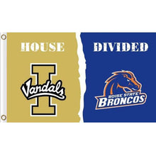 Load image into Gallery viewer, Idaho Vandals and BSU Broncos House divided flag 3ftx5ft