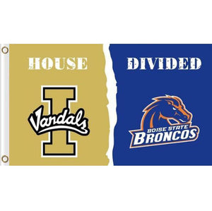Idaho Vandals and BSU Broncos House divided flag 3ftx5ft