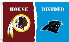 Load image into Gallery viewer, Washington Redskins vs Carolina Panthers Divided Flag