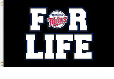 Minnesota Twins For Life Banner flag 3ftx5ft