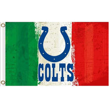 Load image into Gallery viewer, Green white red Stripes Indianapolis Colts flags 3ftx5ft