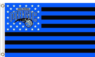 Orlando Magic logo and star-spangled flags 90x150cm