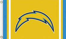Load image into Gallery viewer, San Diego Chargers Logo Stripe Flag 3ftx5ft