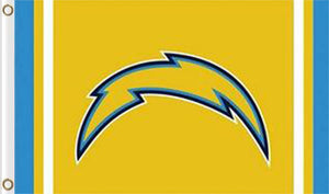 San Diego Chargers Logo Stripe Flag 3ftx5ft
