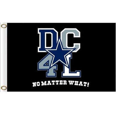 Dallas Cowboys 4L flag with lines 90x150cm