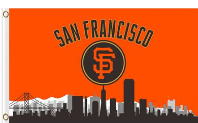 San Francisco Giants Skyline Banner flags 90x150cm