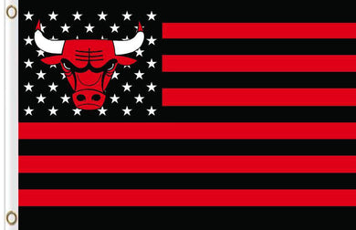 Chicago bulls Flag star and stripe 3x5 FT