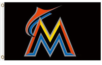 Miami Marlins Americana Banner flag 3x5ft
