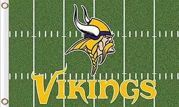Minnesota Viking Green Flags 3ftx5ft